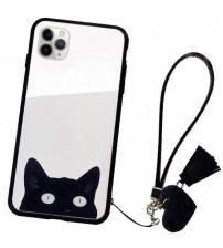 Husa iPhone 11 Pro Max Glass Back, Cat Eyes