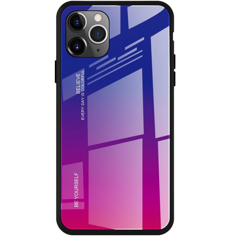 Husa IPhone 11 Pro Max Gradient Glass, Blue-Purple - TemperedGlass.ro