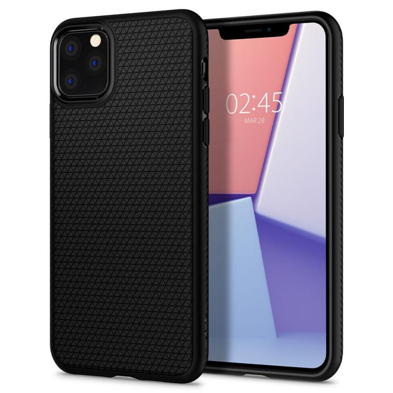 Husa iPhone 11 Pro Max originala SPIGEN Liquid Air, Matte Black