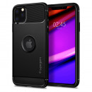 Husa iPhone 11 Pro Max originala SPIGEN Rugged Armor, Black