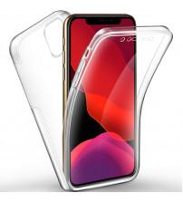 Husa iPhone 11 Pro Max TPU Full Cover 360 (fata+spate), Transparenta