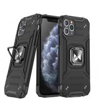 Husa iPhone 11 Pro Wozinsky Ring Armor Rugged, Black