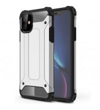 Husa iPhone 11 Rigida Hybrid Shield, Silver