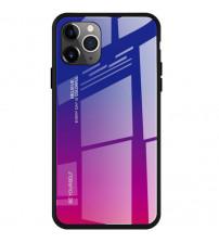 Husa iPhone 12 / 12 Pro Gradient Glass, Blue-Purple