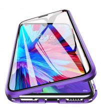 Husa iPhone 12 / 12 Pro Magnetic 360 (fata+spate sticla), Light Purple