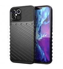 Husa iPhone 12 / 12 Pro Thunder Rugged TPU, Black