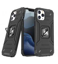 Husa iPhone 12 / 12 Pro Wozinsky Ring Armor Rugged, Black