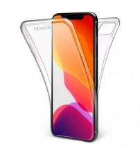Husa iPhone 12 mini TPU Full Cover 360 (fata+spate), Transparenta