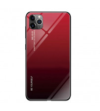 Husa iPhone 12 Pro Max Gradient Glass, Red-Black