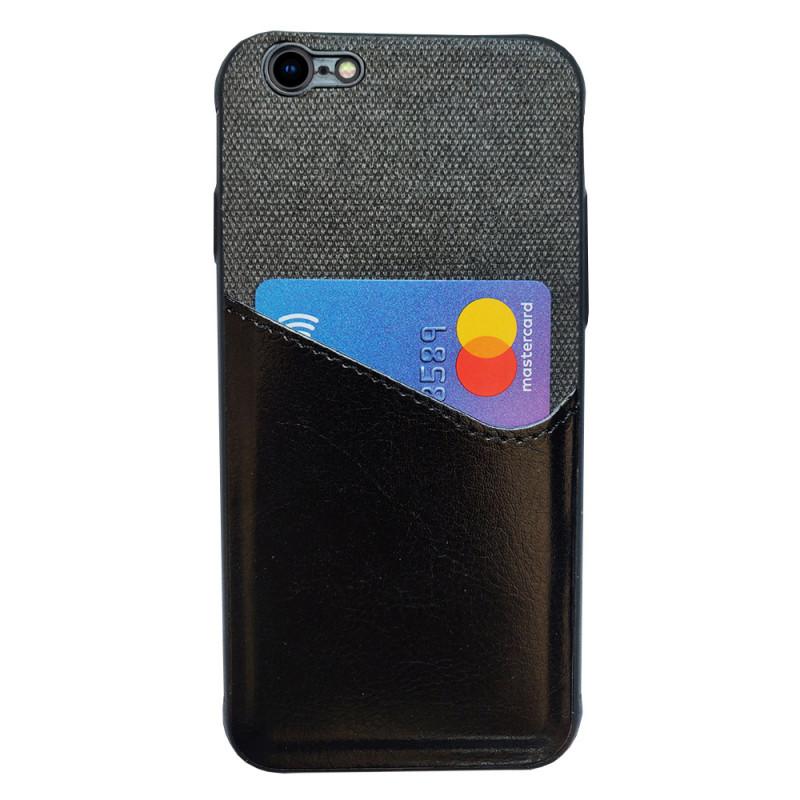 Husa iPhone 6 Card Pocket, Black - TemperedGlass.ro