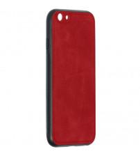 Husa iPhone 6S Denim Magnet TPU, Red