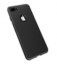Husa iPhone 7 Gel TPU Fiber, Black