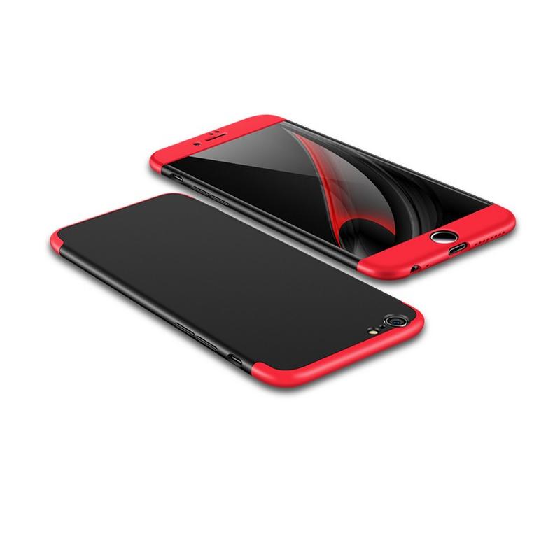 Husa iPhone 6 GKK Full Cover 360, Black-Red - TemperedGlass.ro