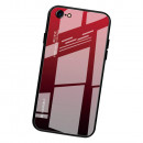 Husa iPhone 8 Gradient Glass, Red-Black