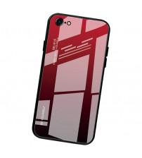 Husa iPhone 6 Gradient Glass, Red-Black