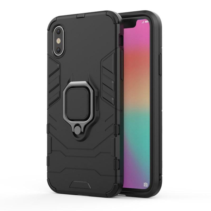 Husa iPhone 8 Magnet Slim Ring, Black - TemperedGlass.ro