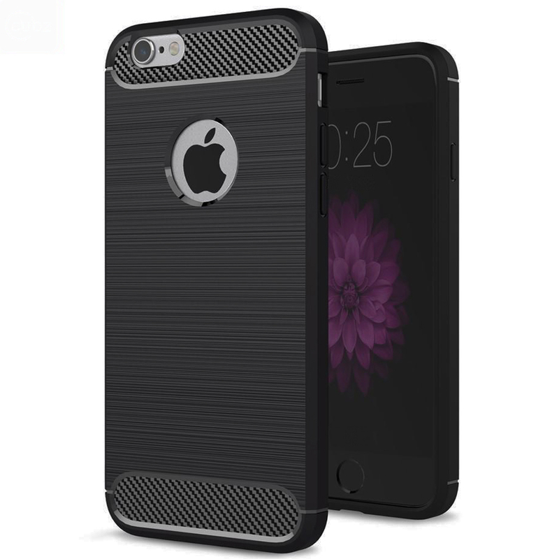 Husa iPhone 6 Slim Armor TPU, Black - TemperedGlass.ro