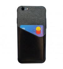 Husa iPhone 7 Card Pocket, Black