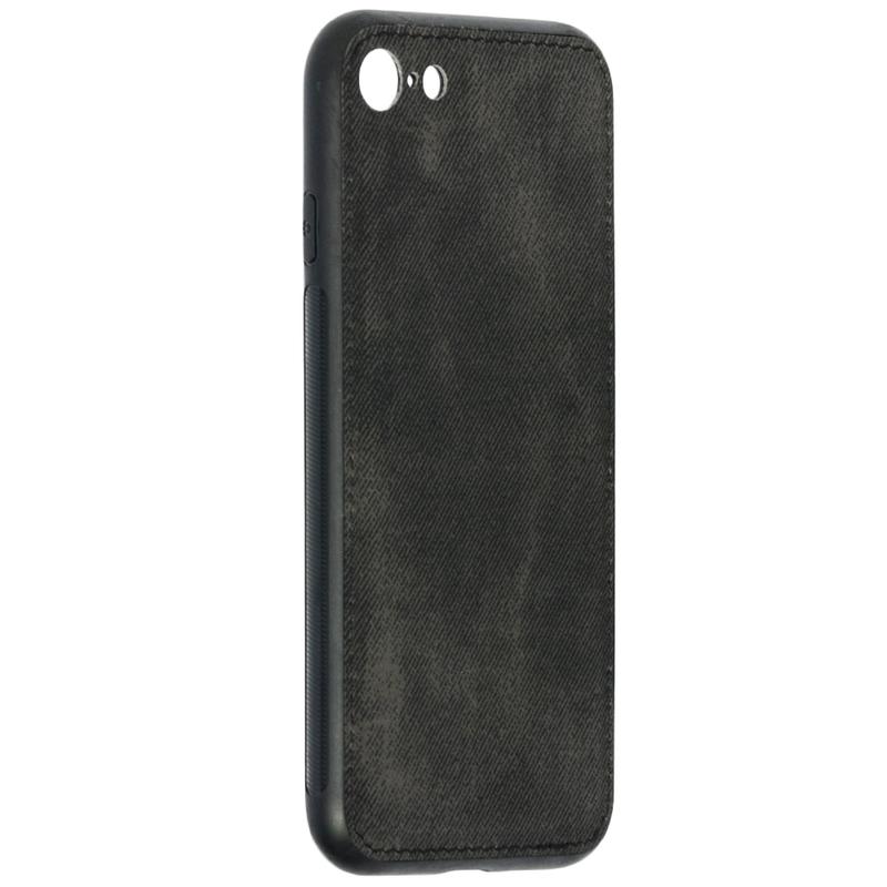 Husa iPhone 8 Denim Magnet TPU, Black - TemperedGlass.ro
