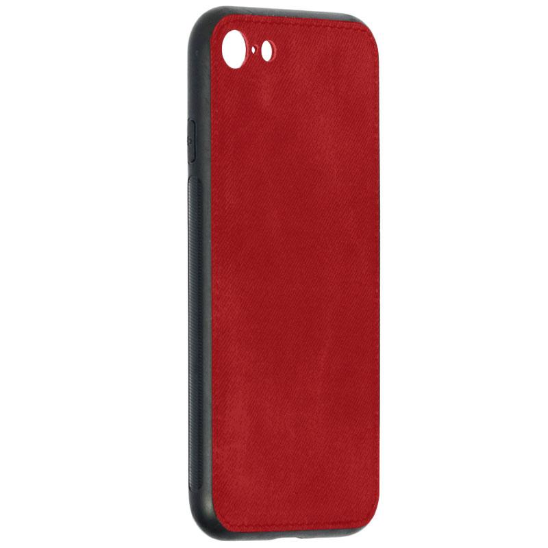 Husa iPhone 7 Denim Magnet TPU, Red - TemperedGlass.ro
