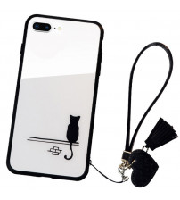 Husa iPhone 8 Glass Back, Cat