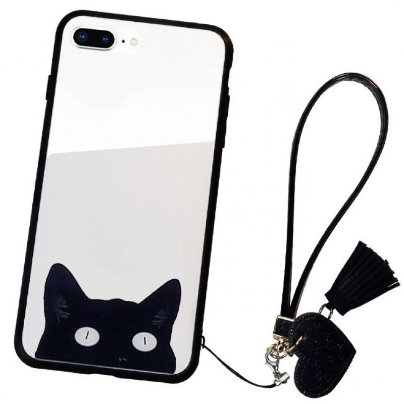 Husa iPhone 8 Glass Back, Cat Eyes - TemperedGlass.ro