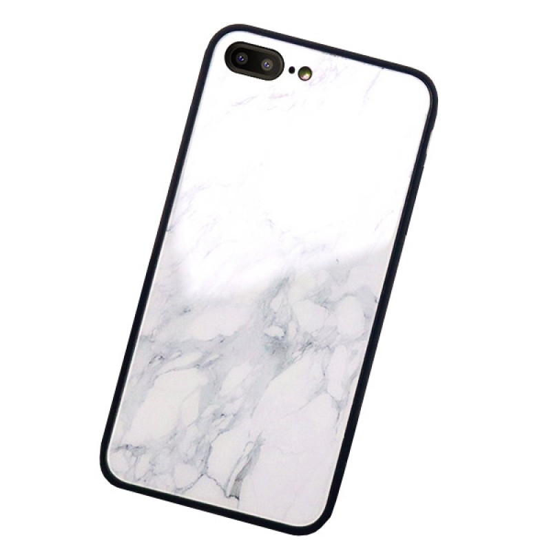 Husa iPhone 7 Glass Back, Marble - TemperedGlass.ro