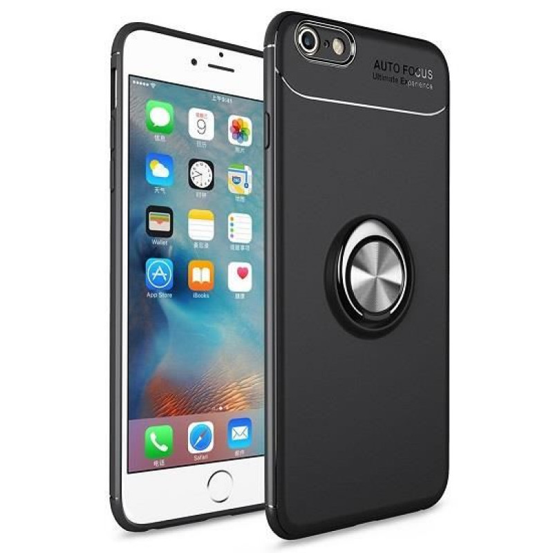 Husa iPhone 7 Magnet Round Ring, Black - TemperedGlass.ro