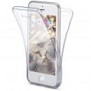 Husa iPhone 8 TPU Full Cover 360 (fata+spate), Transparenta
