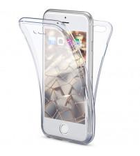 Husa iPhone 7 TPU Full Cover 360 (fata+spate), Transparenta
