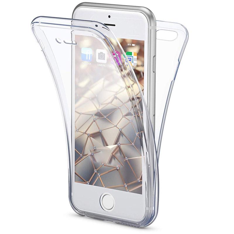 Husa iPhone 7 TPU Full Cover 360, Transparenta