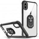 Husa iPhone 7 Transparent Silver Ring, Black