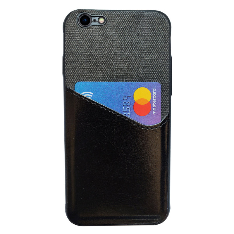 Husa iPhone 8 Card Pocket, Black - TemperedGlass.ro