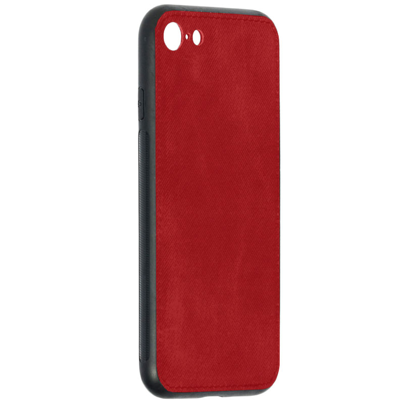Husa iPhone 8 Denim Magnet TPU, Red - TemperedGlass.ro