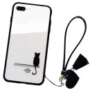 Husa iPhone 7 Glass Back, Cat