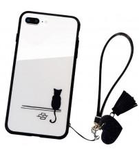 Husa iPhone 7 Glass Back, Cat