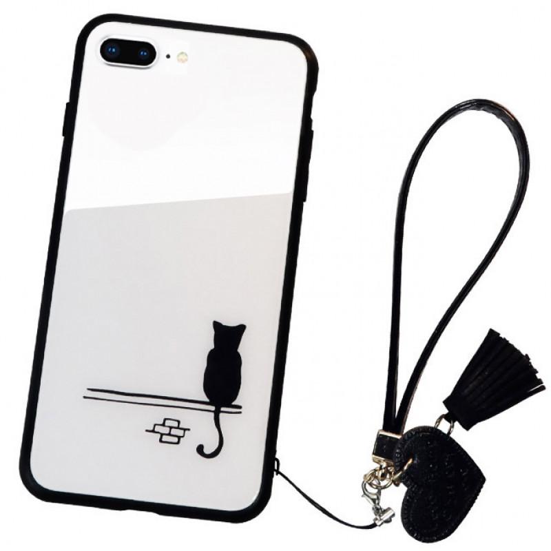 Husa iPhone 8 Glass Back, Cat - TemperedGlass.ro