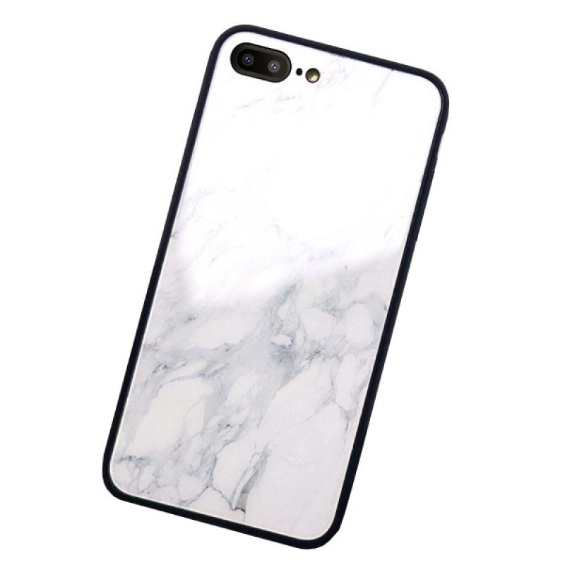 Husa iPhone 8 Glass Back, Marble - TemperedGlass.ro