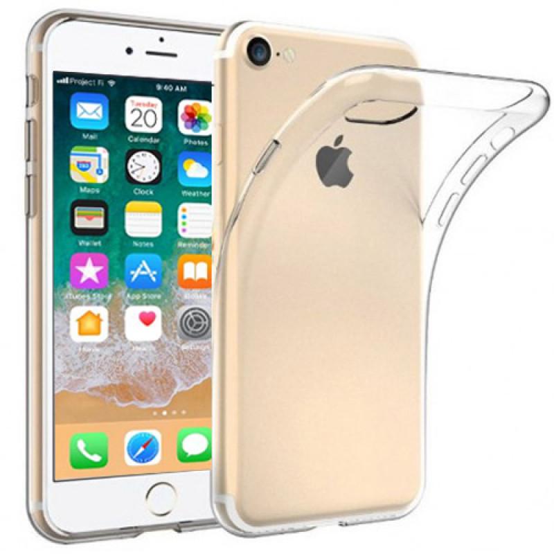 Husa iPhone 8 Plus transparenta, Huse iPhone - TemperedGlass.ro