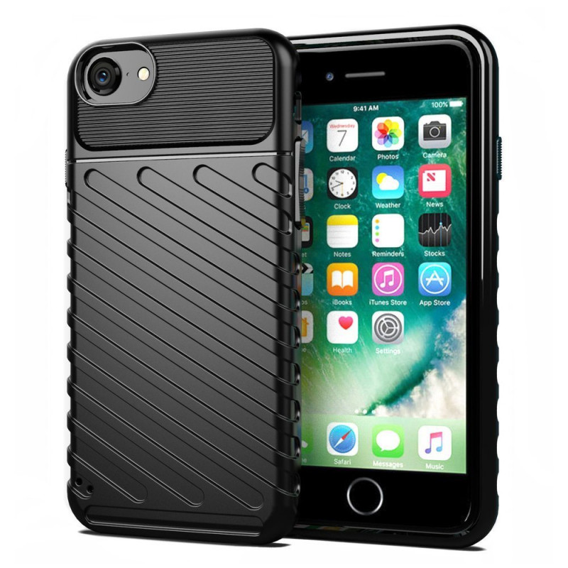 Husa iPhone 7 Thunder Rugged TPU, Black - TemperedGlass.ro