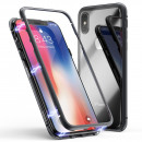 Husa iPhone XS 360 Magnetic, Clear-Black