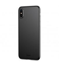 Husa iPhone X Baseus Wing Ultra Thin, Black