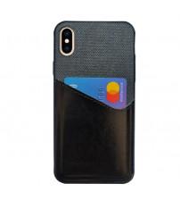 Husa iPhone X Card Pocket, Black