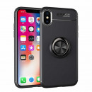Husa iPhone X Magnet Round Ring, Black