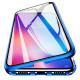 Husa iPhone X Magnetic 360 (fata+spate sticla), Blue