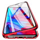 Husa iPhone X Magnetic 360 (fata+spate sticla), Red