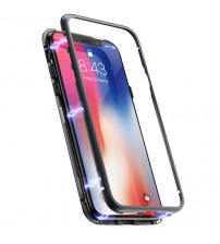 Husa iPhone 8, Magnetic Clear-Black