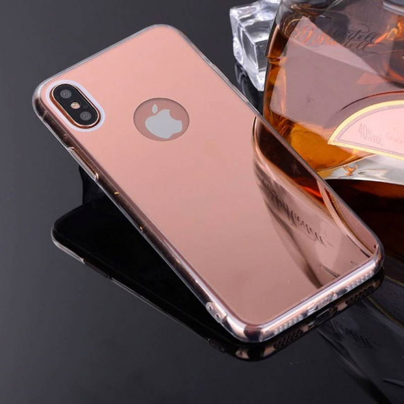 Husa iPhone X Oglinda Luxury, Rose Gold