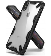 Husa iPhone X originala RINGKE Fusion X, Black