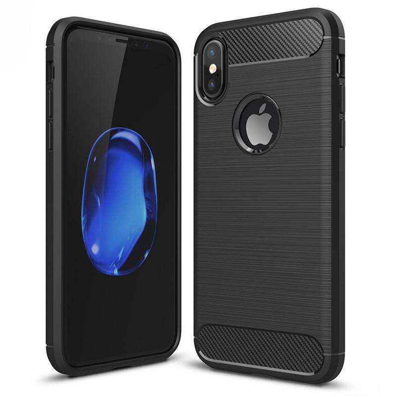 Husa iPhone XS Slim Armor TPU, Black - TemperedGlass.ro